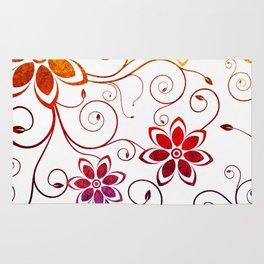 Bright Floral Design Rug