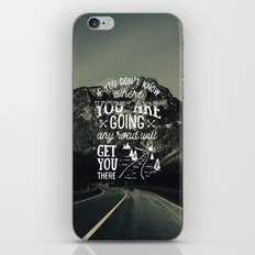 Inspirational Quote and Mountains IV iPhone & iPod Skin