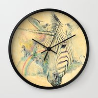 paradise Wall Clocks featuring Paradise by dogooder