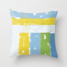 Spring stripes Throw Pillow
