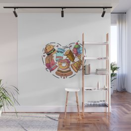 For the Love of Fatty Foods Wall Mural