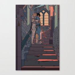 Secret and Sad farewell Canvas Print