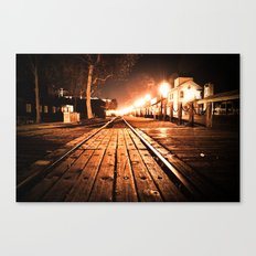 Looking Down The Rails Canvas Print