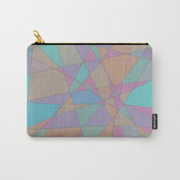 Shattered Turquoise & Pink Carry-All Pouch