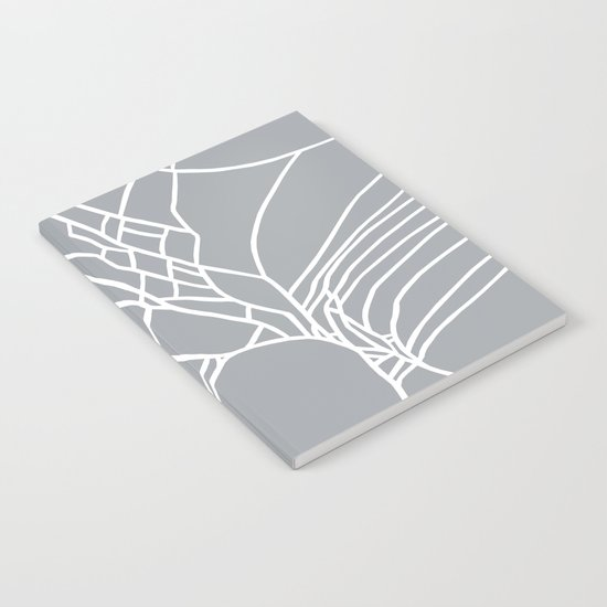 Cracked White on Grey Notebook