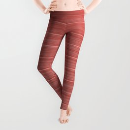 Pastel Red Whitewashed Beach House Cladding Leggings