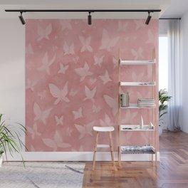 Blushing Butterflies Wall Mural