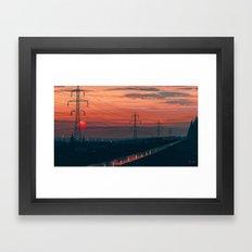 Any Minute Now Framed Art Print