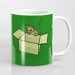 cats and boxes (in green) Coffee Mug