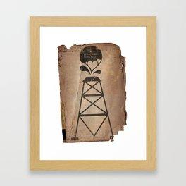 i fracking love you Framed Art Print
