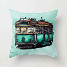 Melbourne Tram Throw Pillow