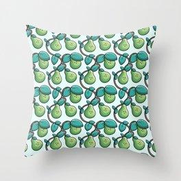 Kawaii Cute Pears Pattern Throw Pillow