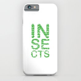 Insects Entomology Insecta Animals Little Fly Ladybugs Butterfly Flies Beetles Gift iPhone Case