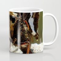 moth Mugs featuring moth by Laura Grove