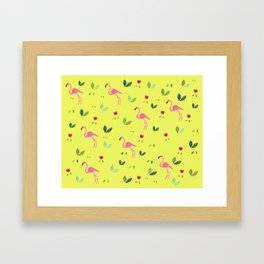 Flamingos and company Framed Art Print