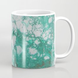 Aquamarine Dream, abstract acrylic fluid painting Coffee Mug