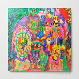 Pop Art World by Elisavet Metal Print