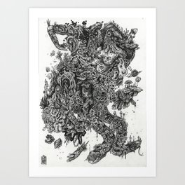 Flick My Beaniverse Art Print