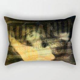 Laudanum, Vintage Advertisement Collage Rectangular Pillow