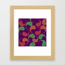 Cool Paisley Framed Art Print
