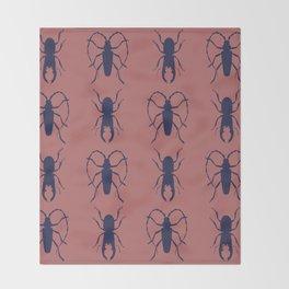 Beetle Grid V4 Throw Blanket