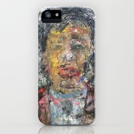 Liu Yiqian (oil on canvas) iPhone Case