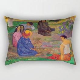 "Paul Gauguin ""Conversation"" Rectangular Pillow"