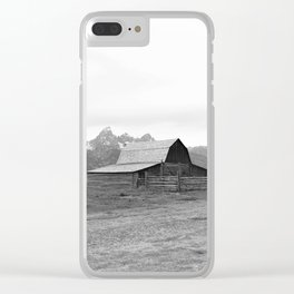 Grand Tetons Barn View Wyoming Clear iPhone Case