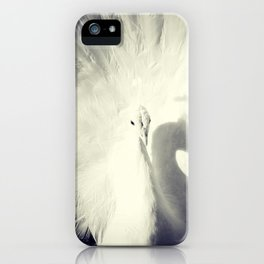 white peacock iPhone Case