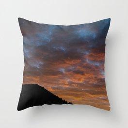 Mt. Baldy Sunset Throw Pillow