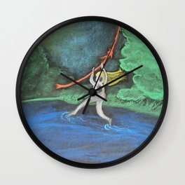 Walking on Water Wall Clock