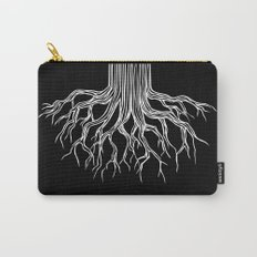 Tree Root Drawing (white on black) Carry-All Pouch