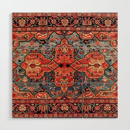 Kashan Poshti Central Persian Rug Print Wood Wall Art