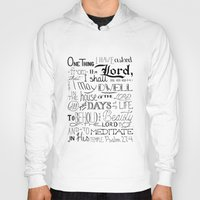 bible verse Hoodies featuring All The Days, Bible Verse Art by Kate Donovan