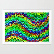 Wave of consciousness Art Print