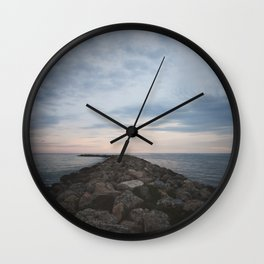 The Jetty at Sunset - Vertical Wall Clock