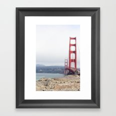 Golden Gate Blur Framed Art Print