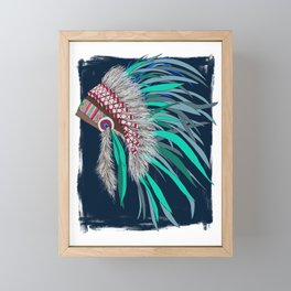 Feather Headdress Framed Mini Art Print