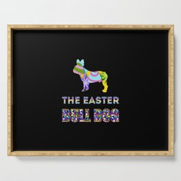 Bull Dog gifts | Easter gifts | Easter decorations | Easter Bunny | Spring decor Serving Tray