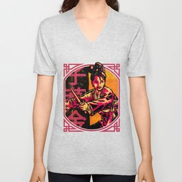 Golden Swallow - Sunset (Tall) Unisex V-Neck