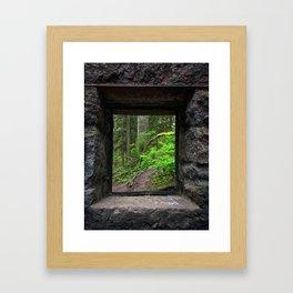 Stone House Window Framed Art Print
