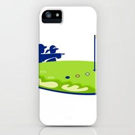 Golfer Caddie Golf Course Retro iPhone Case