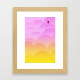 Balloon: Live Framed Art Print