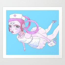 NURSE JOY Art Print