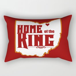 Home of the King (Red) Rectangular Pillow
