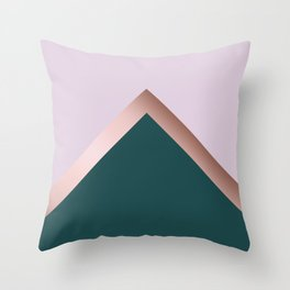 Rose gold, teal and purple Throw Pillow