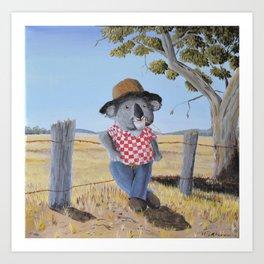 Aussie Koala Art Print