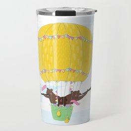 Musical bear flight Travel Mug