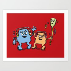 Happy balloon :) Art Print