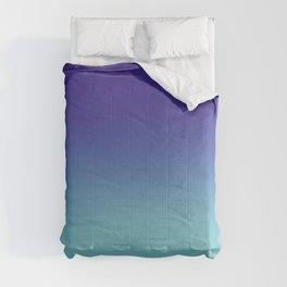 Purple Aqua Ombré Gradient Abstract Comforters
